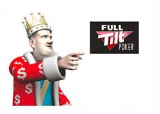 The King and the new Full Tilt Poker logo