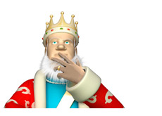 -- King scratching his beard and going mmmmnnn --