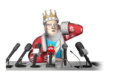 The King is confused about the Brexit situation and the sharp drop in price of the gaming companies trading on the stock exchange