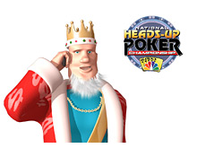 -- King talking on the phone - NBC National Heads-Up Poker Championship - Logo --
