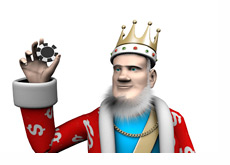 The King is spinning a high stakes poker chip in his hand