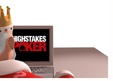 poker king is watching high stakes poker on his mac