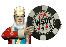 -- The King is holding a WSOP chip UFC style --