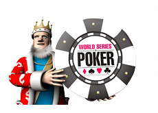 The King is holding the World Series of Poker chip