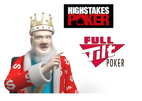The King next to the High Stakes Poker and Full Tilt Poker logos - Discussion about the latest news from the two companies