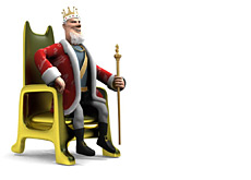 poker king sitting in a chair