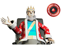 The King is sitting in his chair talking about the 2010 WCOOP start