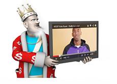 The King Holding the Kobe WSOP Youtube Screen