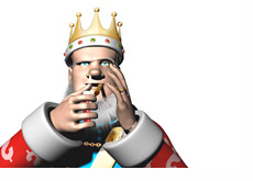 The King is lighting his cigar and talking about the changes in the poker world past Black Friday