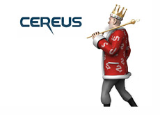 The King is looking back at the Cereus logo