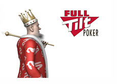 The King is looking back at the Full Tilt Poker logo