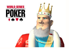 poker king is looking at the wsop logo