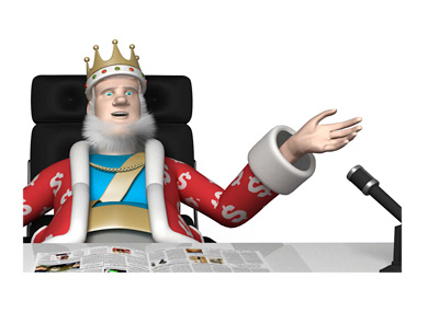 The King is sitting in his office, making a point about the 2016 WCOOP poker tournament