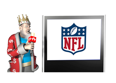 The King is talking about the popularity of NFL among poker players