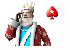 King receiving news on his mobile phone - Pokerstars icon