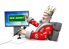 The King is reporting the latest numbers from New Jersey