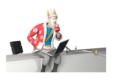 The Poker King is sitting on his office desk and going over the latest New Jersey internet gaming revenue numbers