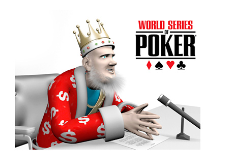 The King is reading the news - WSOP 2014