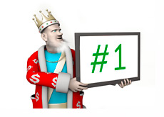 The King is hoding the Number One sign