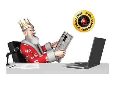 The King is reading the papers and talking about the upcoming 2016 Pokerstars World Championship of Online Poker (WCOOP)