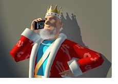 The King is on his mobile phone receiving the news about Scott Freeman and Chad Batista