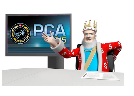 The King reports on the latest from the PCA (Pokerstars Caribbean Adventure) 2015 Tournament from his Studio
