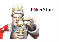 The King is receiving news about Viktor Blom returning to Pokerstars