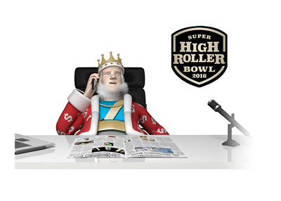 The Poker King is on the phone in his office receiving the latest news from the 2016 Super High Roller Bowl