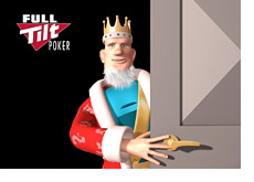 The King is popping up behind the closed door - Full tilt logo in the background