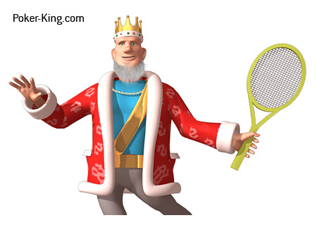 The King is playing tennis while pondering the matchup between Doyle Brunson and Patrik Antonius