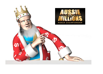 Reporting on the latest high stakes winners at the Aussie Millions tournament