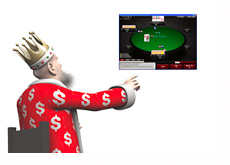 The King is presenting the new Omaha game at Pokerstars