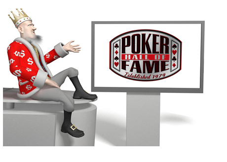 The King is presenting the 2014 Poker Hall of Fame from his studio