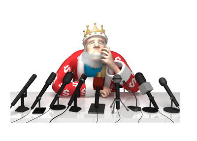 The King is holding a press conference in regards to the recent lack of high-stakes poker activity in the online world