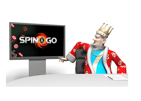 The King is reporting on the latest winners from Pokerstars Spin and Go tournament - Studio shot
