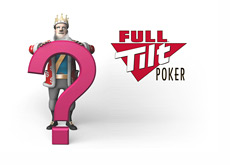 The King next to a question mark and the Full Tilt Poker logo