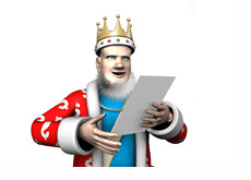 The King is reading the latest High Stakes report
