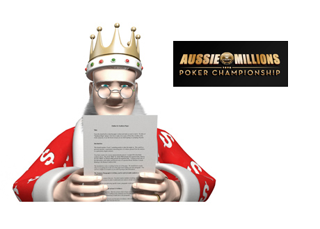 The King Report - Aussie Millions 2015 - The latest tournament news