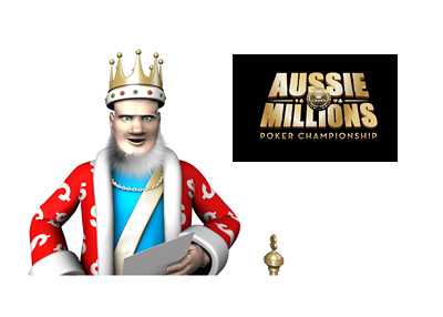 The King is reading the latest report on the Aussie Millions tournament, which is going to be a standalone poker even starting in 2018