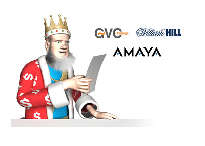 The King is reporting from his studio office.  Todays topic Amaya.  William Hill and GVC with offers on the table