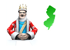 The King is reporting on the latest numbers from New Jersey