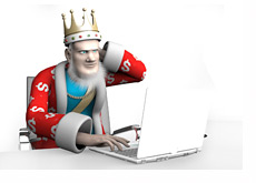 The King is reporting the latest news from the poker world, a little bit confused