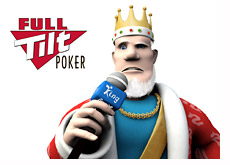 poker king holding a microphone and reporting on the latest full tilt - ftops - event