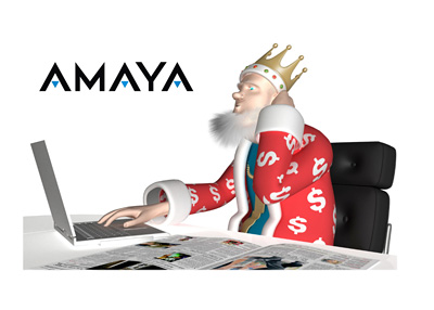 The King is confused and scratching his head while reporting about the latest Amaya company news