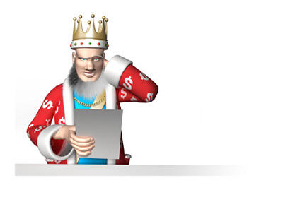The King is scratching his head, while reporting on the latest news from the poker world