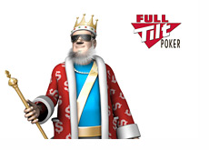 King wearing new shades next to Full Tilt Poker logo