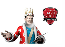 The King and the Seminole Hard Rock Poker Open logo