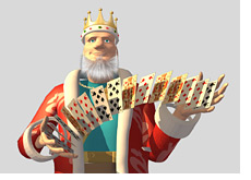 -- Poker King is shuffling a deck of cards --