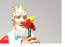 The King is smelling the flowers. And so should everyone else.  Take the time.