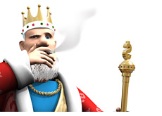 king smoking